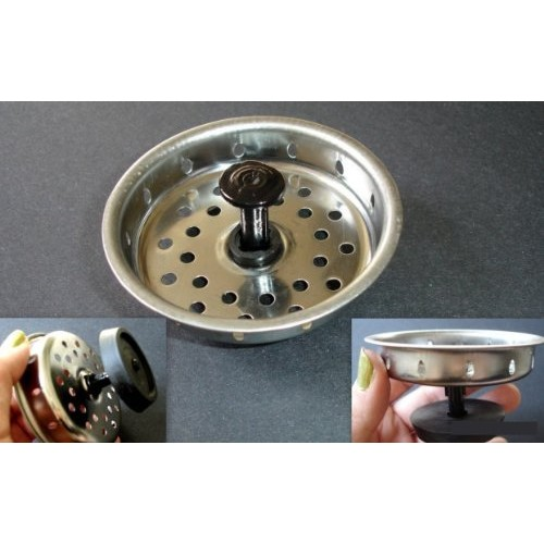 STAINLESS STEEL Kitchen Sink Stopper Strainer Drain