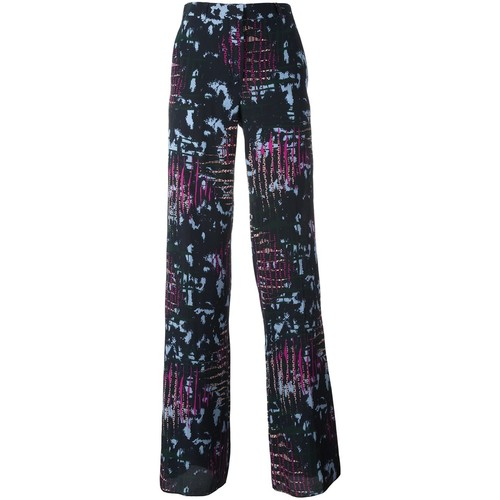 VERSACE Intarsia Knit Wide Trousers