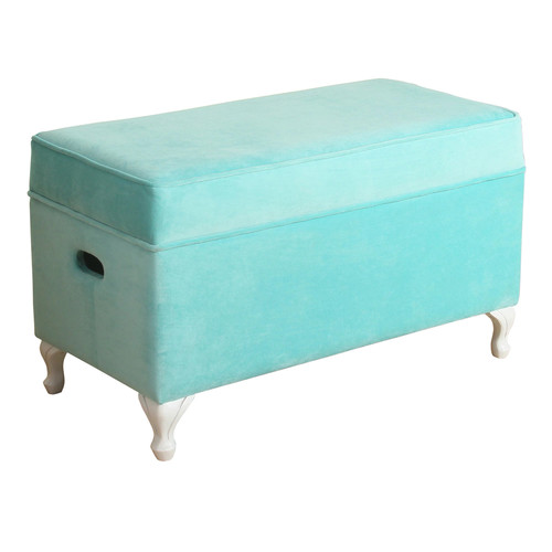 HomePop Diva Velvet Storage Bench