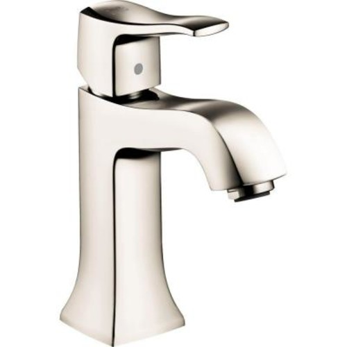 Hansgrohe Metris C Single Hole 1-Handle Mid-Arc Bathroom Faucet in Polished Nickel