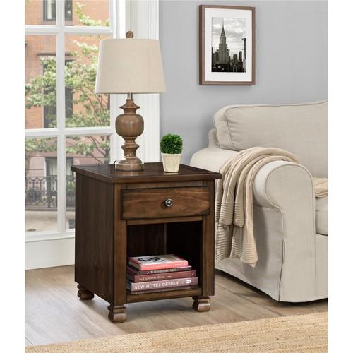 Dorel San Antonio Espresso Wood Veneer End Table