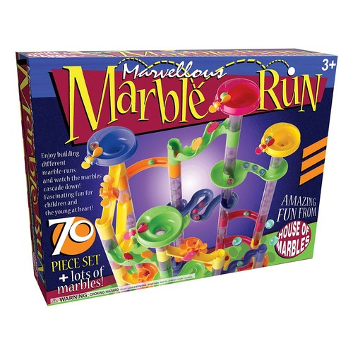 House of Marbles Marvellous Marble Run 70-Piece Set [Multicolor, None]