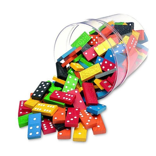 Learning Resources DOMINOES DOUBLE-SIX COLOR BUCKET 6