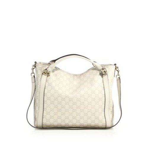 GUCCI Miss Gg Ssima Leather Top-Handle Bag