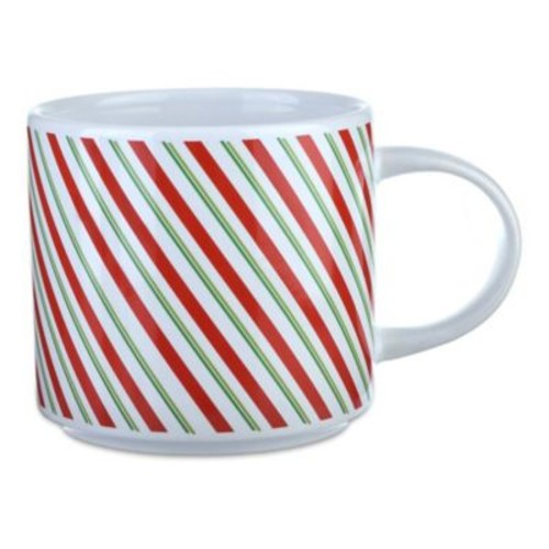 Formations Candy Stripe Holiday Stack Mug
