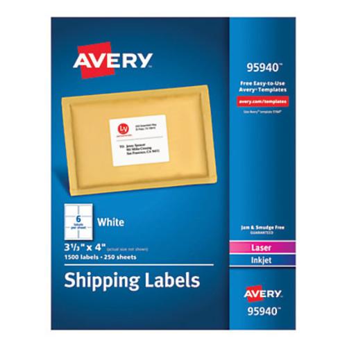 Avery Bulk Shipping Labels, 95940, 3 1/3