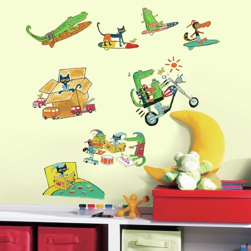 RoomMates Pete the Cat Peel and Stick Wall Decals