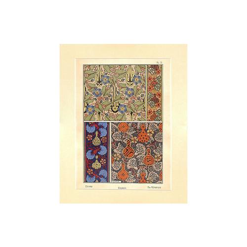 intaglio antique prints and maps Art Nouveau Gourds, 1896