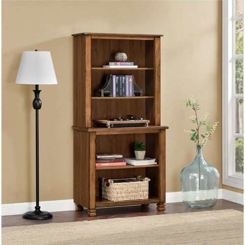 Ameriwood Home San Antonio Wood Veneer Bookcase - Tuscany Oak