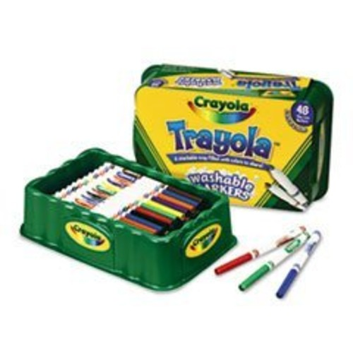 Crayola Washable Markers, Fine Point, Eight Assorted Colors, 48/Set