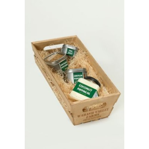 Wabash Valley Farms Organic Popping Ingredients Wooden Crate Gift Set