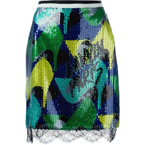 LANVIN Sequin Pencil Skirt