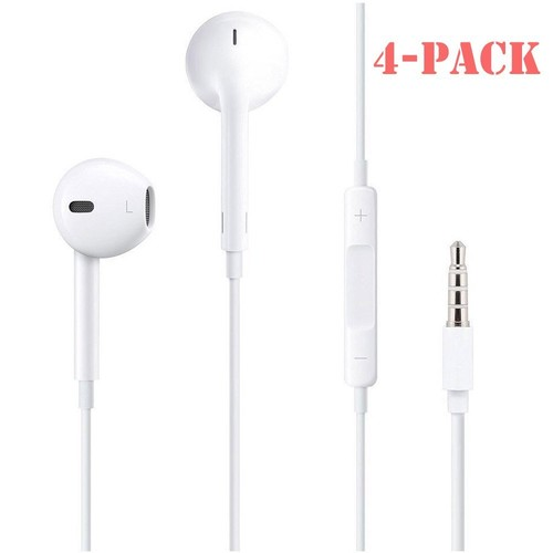 4 Pack ROMIX EarbudsIn Ear Earpods Earbuds Headphone Headset Wired Earphones with Mic for iPhone 6,6s,6s Plus,SE 5,5S,5C