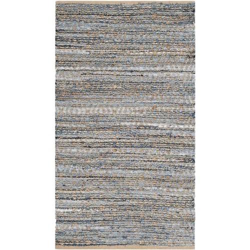 Safavieh Cape Cod Handmade Natural / Blue Jute Natural Fiber Rug (5' x 8')