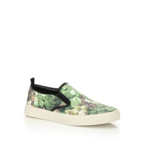 GUCCI Dublin Bloom Slip-On Sneakers