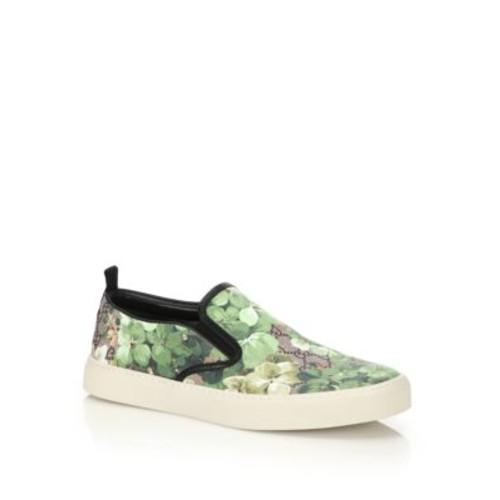 GUCCI Dublin Bloom Slip-On Sneakers