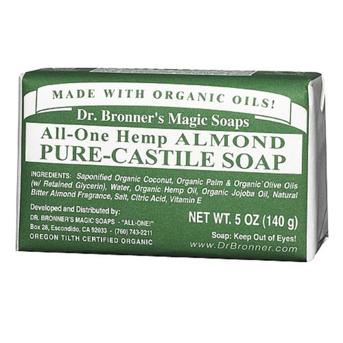 Dr. Bronner's Magic Soaps All-One Hemp Almond Pure-Castile Bar Soap
