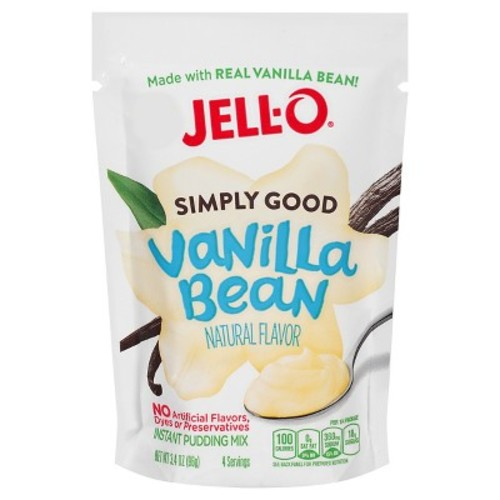 Jell-O Simply Good Vanilla Bean Instant Pudding Mix -3.4oz