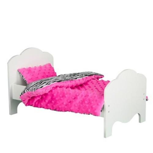 Olivia's Little World Little Princess Doll Bed & Zebra Bedding Set
