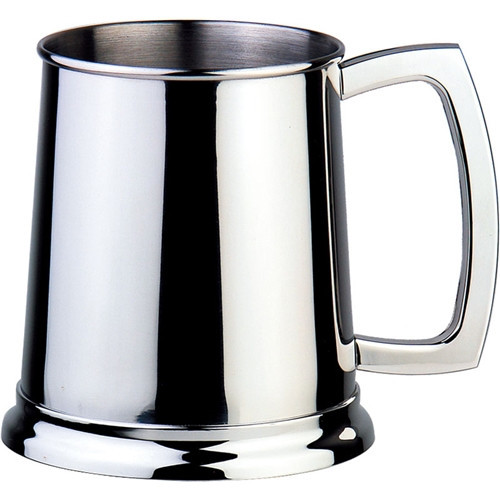 Visol Products Dortmund Beer Glass 16 oz. Stainless Steel