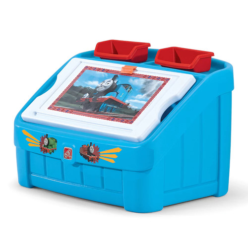 Step2 Thomas & Friends 2-in-1 Toy Box & Art Lid