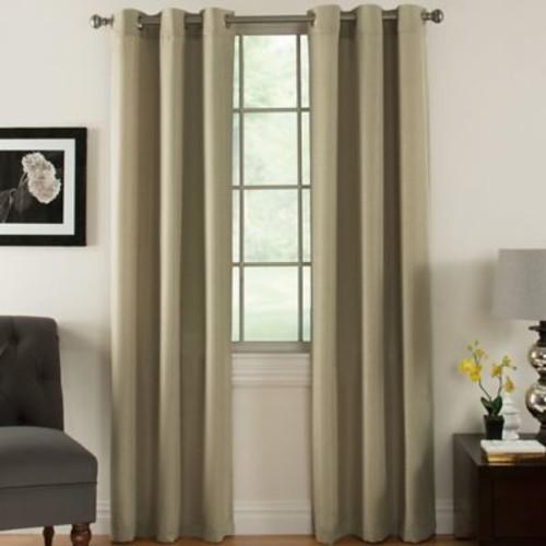 Ardor Home Indoor/Outdoor Thermal Curtain Panels (Set of 2); Beige