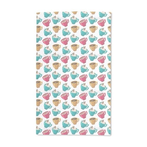 Cup of Coffee Hand Towel (Set of 2)