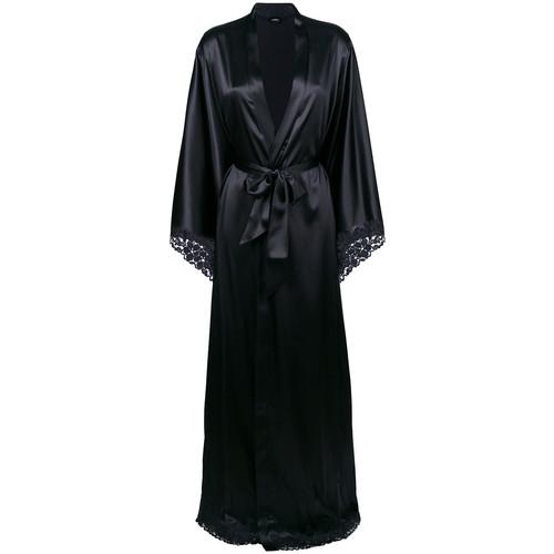 satin floor-length robe