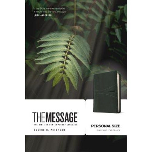 The Message: The Bible in Contemporary Language with Topical Concordance, Personal Size, Black Wave, Numbered Edition