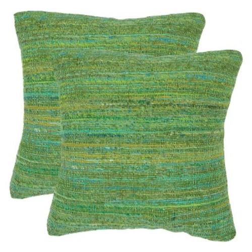 Brilliant Blue Eloise Throw Pillow Set of 2 - Safavieh