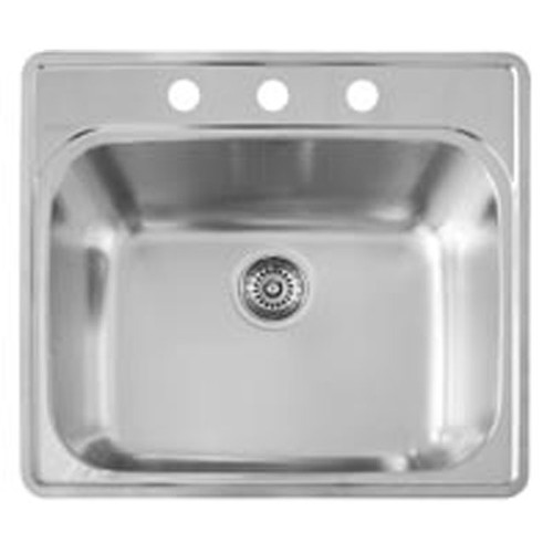 Blanco 441400 Essential Self-rimming Laundry Sink with 3 Faucet Holes Satin