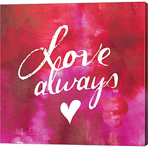 Metaverse Art Watercolor Sentiments IV Gallery Wrapped Canvas Wall Art