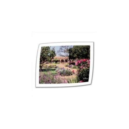Artwal Gardens of Mission San Juan Capistrano II Unwrapped Canvas Art by Linda Parke, 24 x 32 Inch
