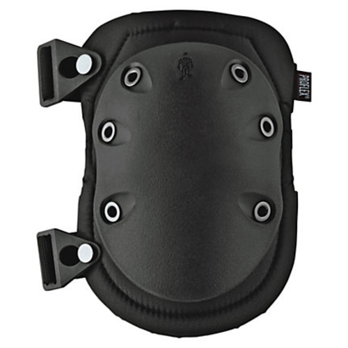 Ergodyne ProFlex 335 Slip-Resistant Rubber-Cap Knee Pads, Black