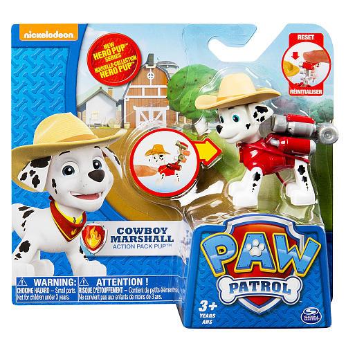 Nickelodeon Paw Patrol Hero Pup Cowboy Marshall Figure