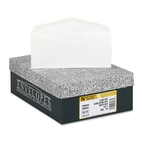 Neenah Paper CLASSIC CREST #10 Envelope, Classic Natural White, 4 1/8 x 9 1/2500/Box (2803300)