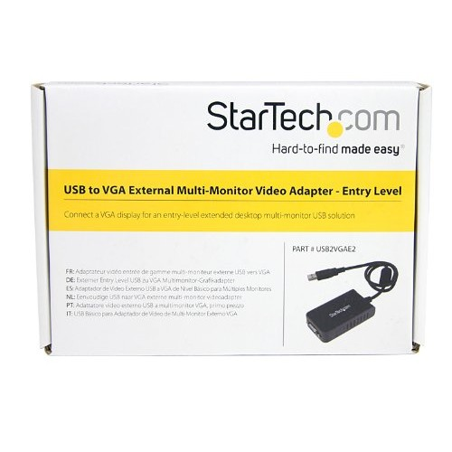 StarTech.com USB to VGA Multi Monitor External Video Card Adapter - 1440x900 - USB to VGA External Graphics Card [without CE]