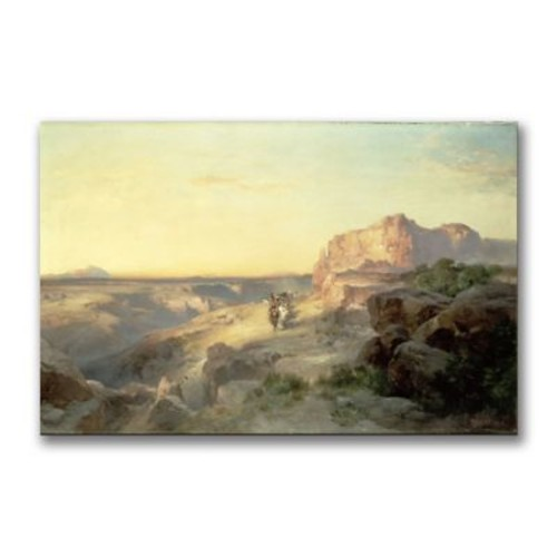 Trademark Fine Art Thomas Moran 'Red Rock trail South Utah' Canvas Art 16x24 Inches