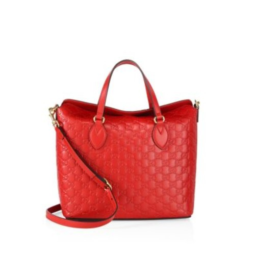 GUCCI Linea A Leather Shoulder Bag