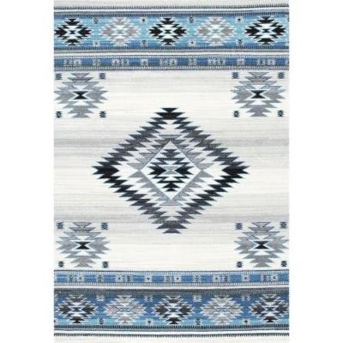 nuLOOM Navajo Aqua 4 ft. x 6 ft. Area Rug