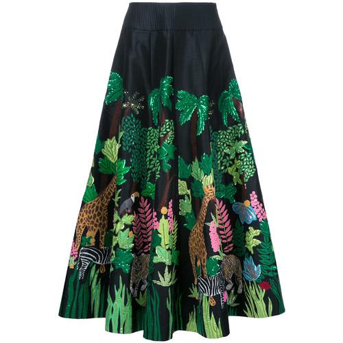 Safari embellished full skirt