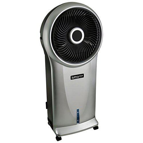 Luma Comfort EC110S Portable Evaporative Cooler with 250 Square Foot Cooling, 500 CFM [Silver]