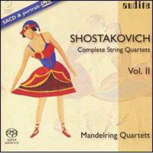 Shostakovich: Complete String Quartets, Vol. 2 [includes DVD] By Mandelring Quartet (Super Audio CD (SACD))