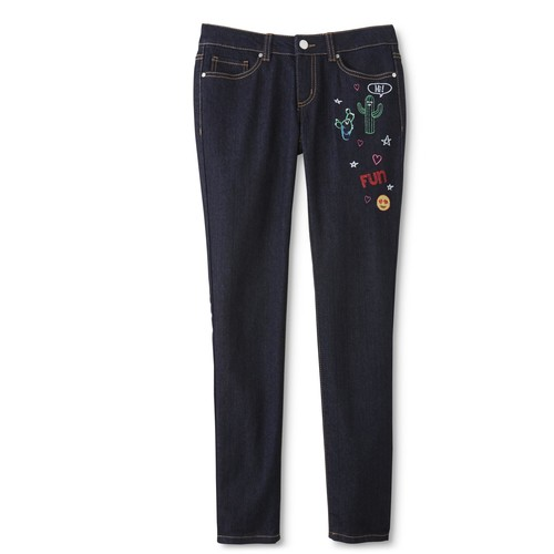 Route 66 Girls' Embellished Skinny Jeans [Length : Long; Fit : Girls 7-16]