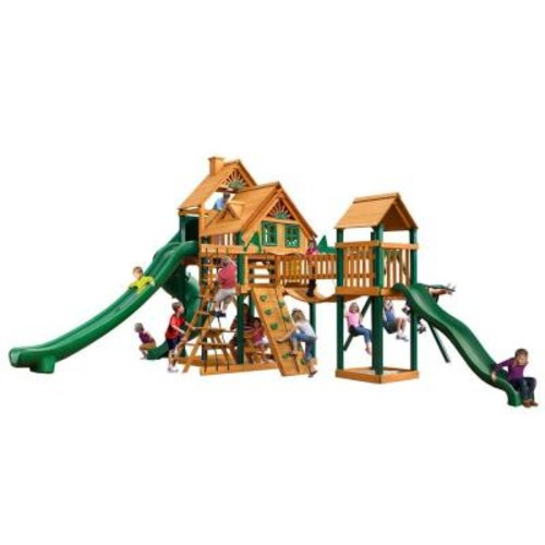 Gorilla Playsets Treasure Trove II Treehouse Swing Set with Timber Shield