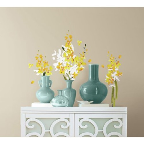 RoomMates Yellow Flower Arrangement Peel and Stick Wall Decals