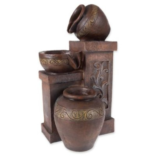 Pure Garden Tiered Vase Tabletop Fountain