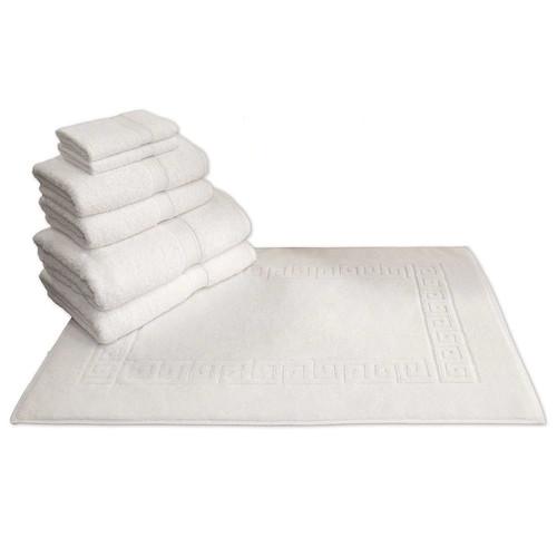 Linum Home Textiles Terry 7-pc. Bath Towel & Greek Key Bath Mat Set