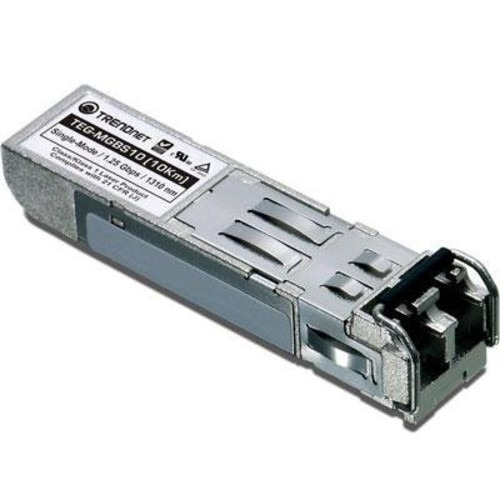 TRENDnet Gigabit SFP module, Single-Mode, Mini-GBIC, Up to 10 km, TEG-MGBS10 [Gigabit, SFP (up to 10 KM)]