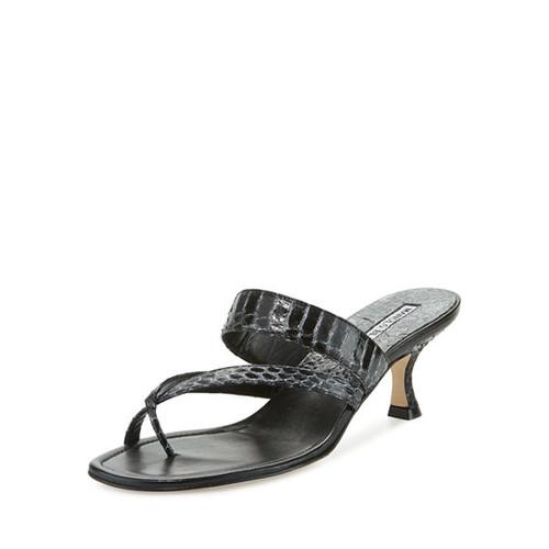 Susa Snakeskin 50mm Slide Sandal